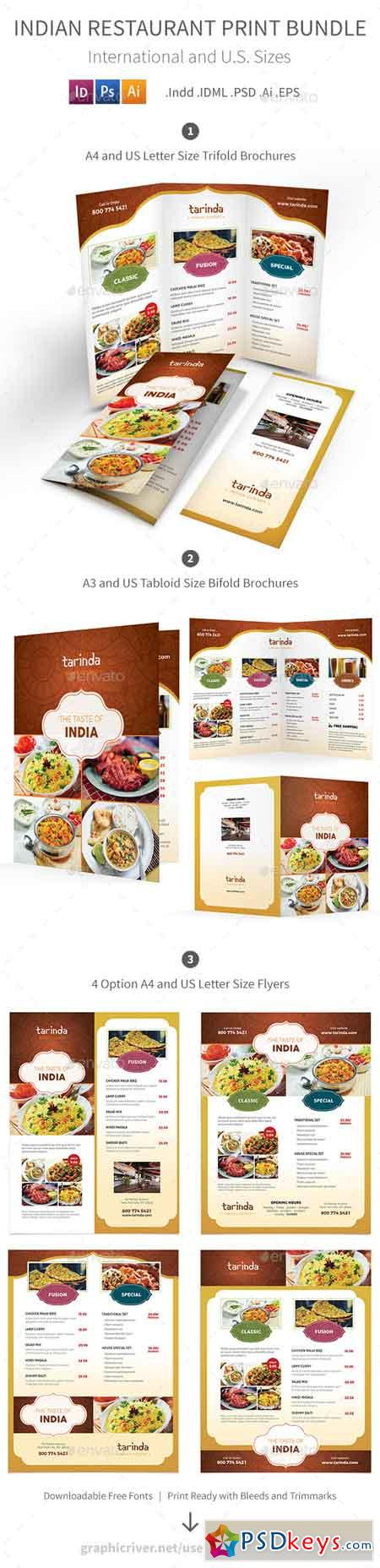 Indian Restaurant Menu Print Bundle 19289137