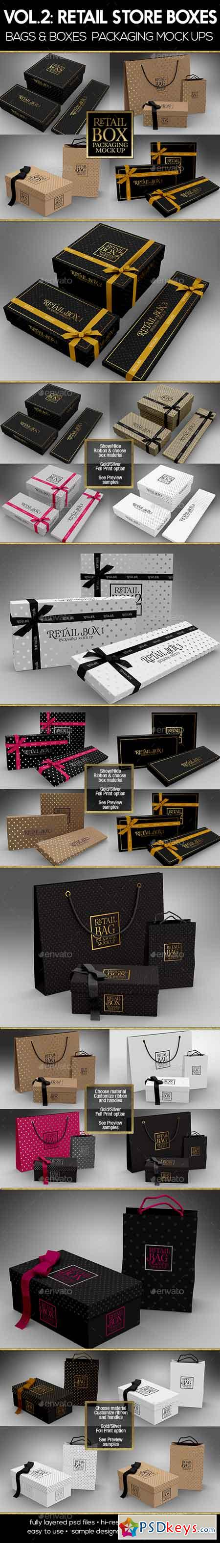 Retail Boxes Vol.2 Bag & Box Packaging Mock Ups 19346258