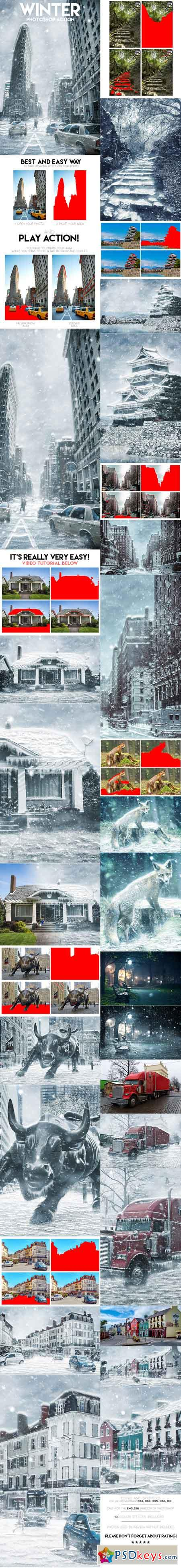 Winter Photoshop Action 19315141