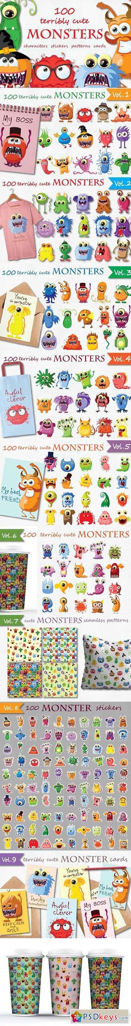 100 terribly cute MONSTERS 1215285