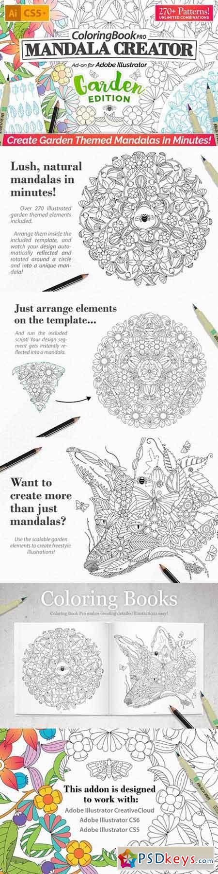 Coloring Book Pro - Garden Edition 1214108 » Free Download Photoshop