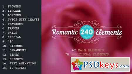 Romantic Elements & Titles 10214513 - After Effects Projects
