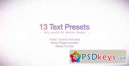Text Presets Pack 1255392 - After Effects Projects