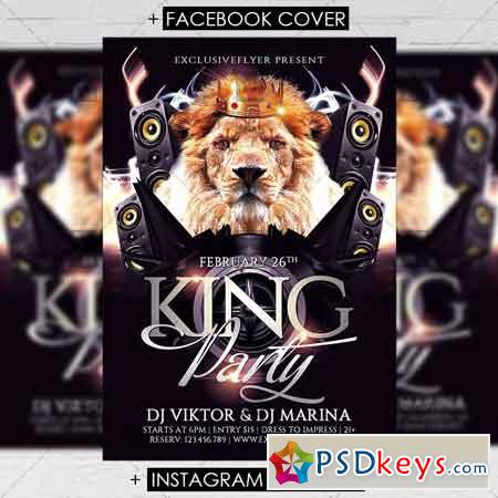 King Party - Premium Flyer Template