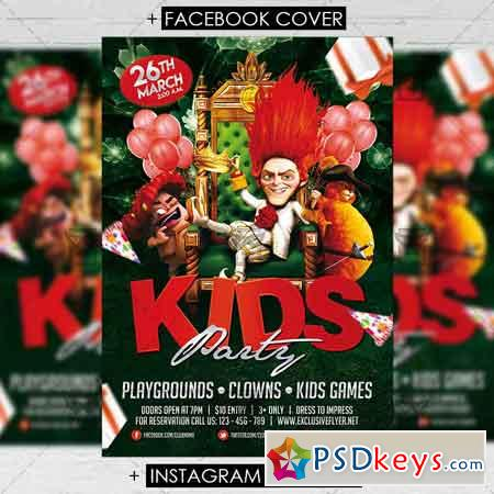 Kids Party - Premium Flyer Template