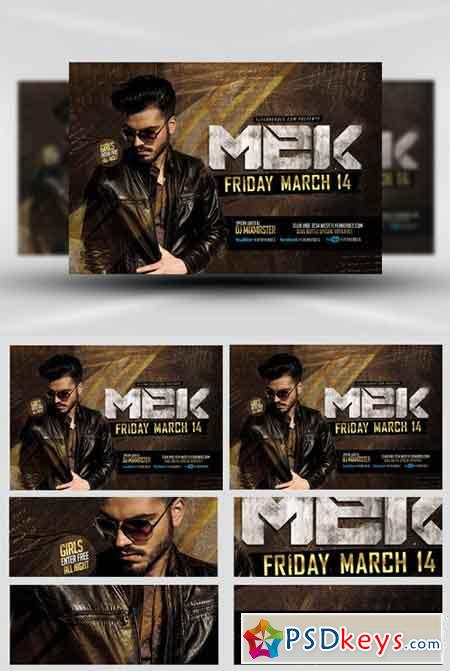 Mek Bar Flyer Template  Free Download Photoshop Vector Stock Image