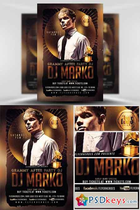 grammy after party flyer template  u00bb free download