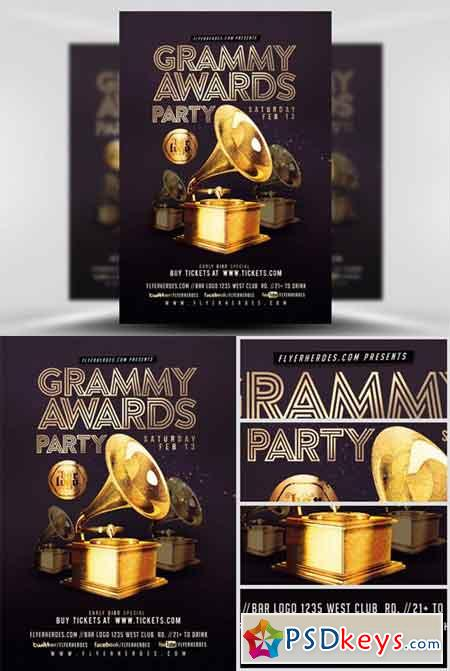 grammy awards party flyer template  u00bb free download