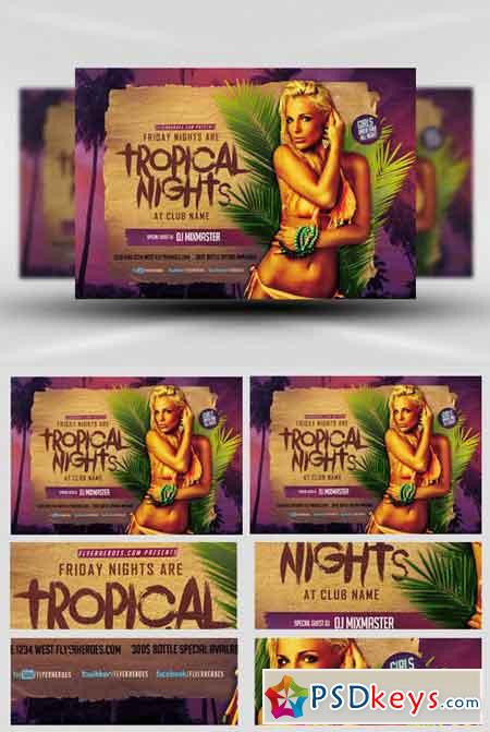 Tropical Nights Flyer Template