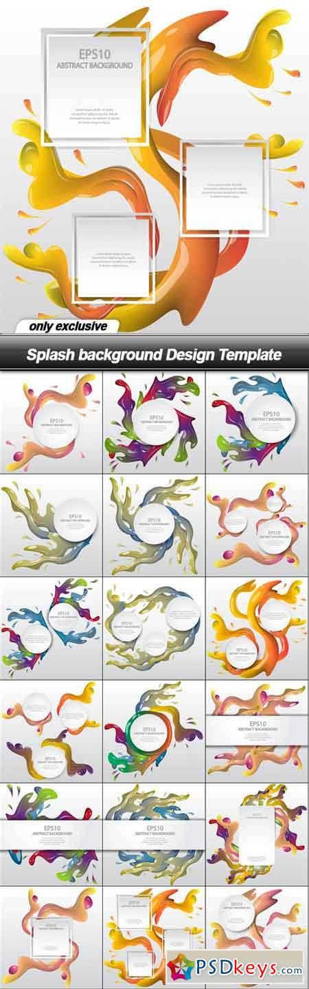 Splash background Design Template - 18 EPS