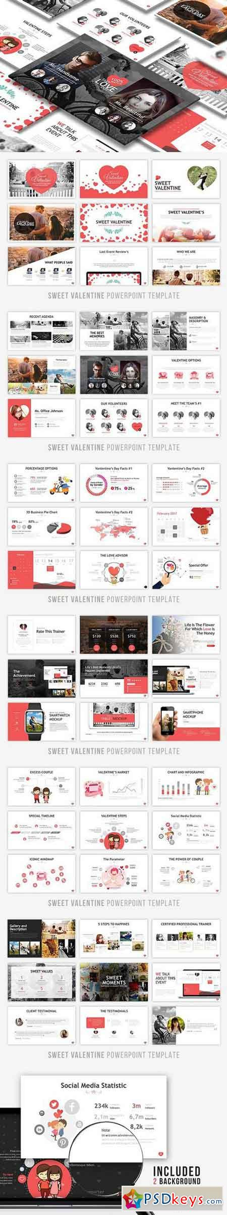 Sweet Valentine Powerpoint Template 1223976