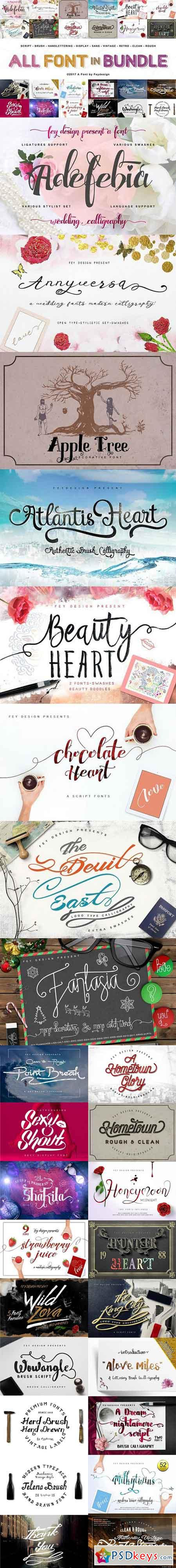 All Font in Bundle 1213908