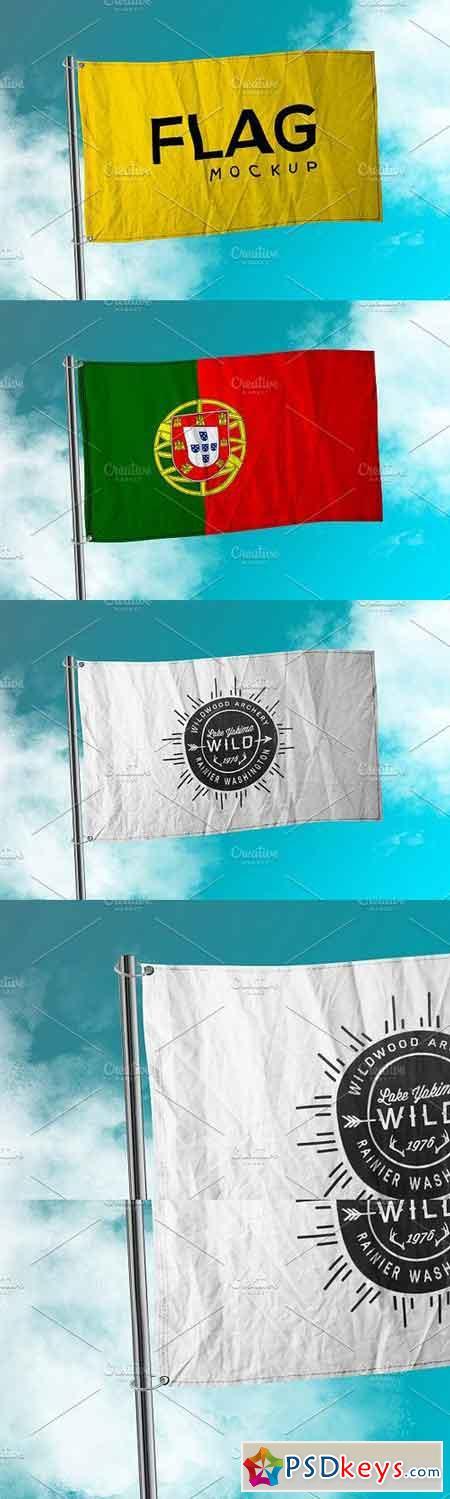 Photorealistic Flag Mockup 1132053