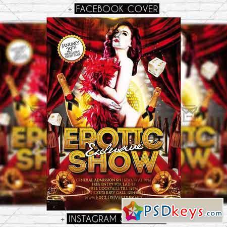 Exclusive Erotic Show - Premium Flyer Template