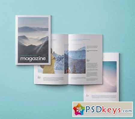A4 Psd Magazine Booklet Mockup Vol 3