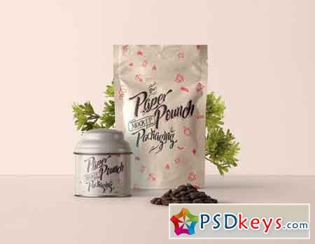 Psd Stand Up Pouch Mockup