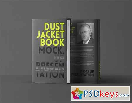 Psd Dust Jacket Book Mockup