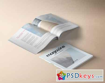 Square Psd Magazine Mockup Vol 4