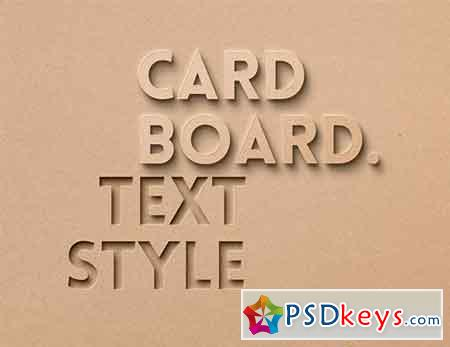 Card Board Psd Text Effect
