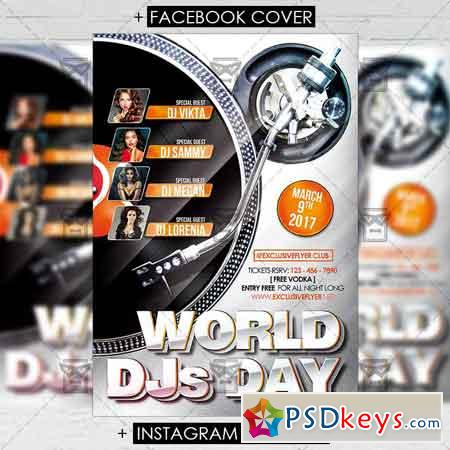 World DJS Day Vol 2 - Premium Flyer Template