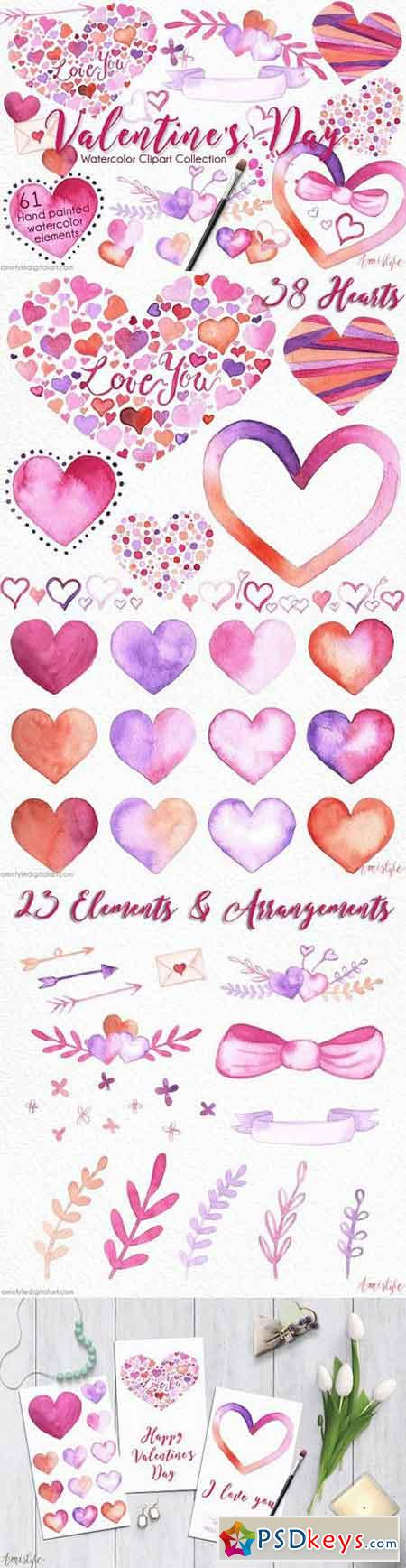 Valentine's Day Clipart Set 1179726