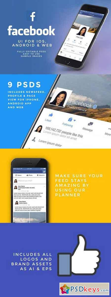 NEW Facebook UI Kit 764830