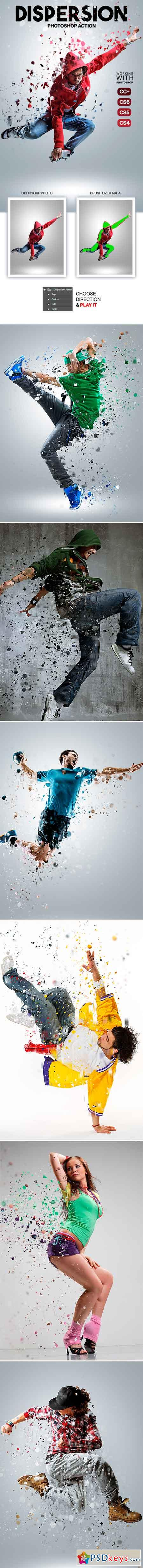 Dispersion Photoshop Action 19425108
