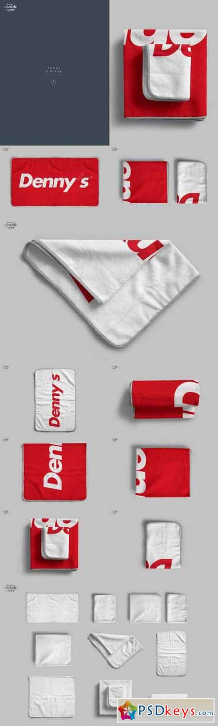 Towel 2 Sizes Mockup 772516