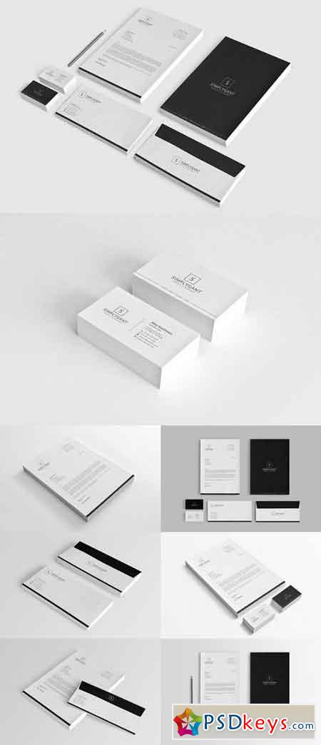Simple Minimal Corporate Stationery 951620