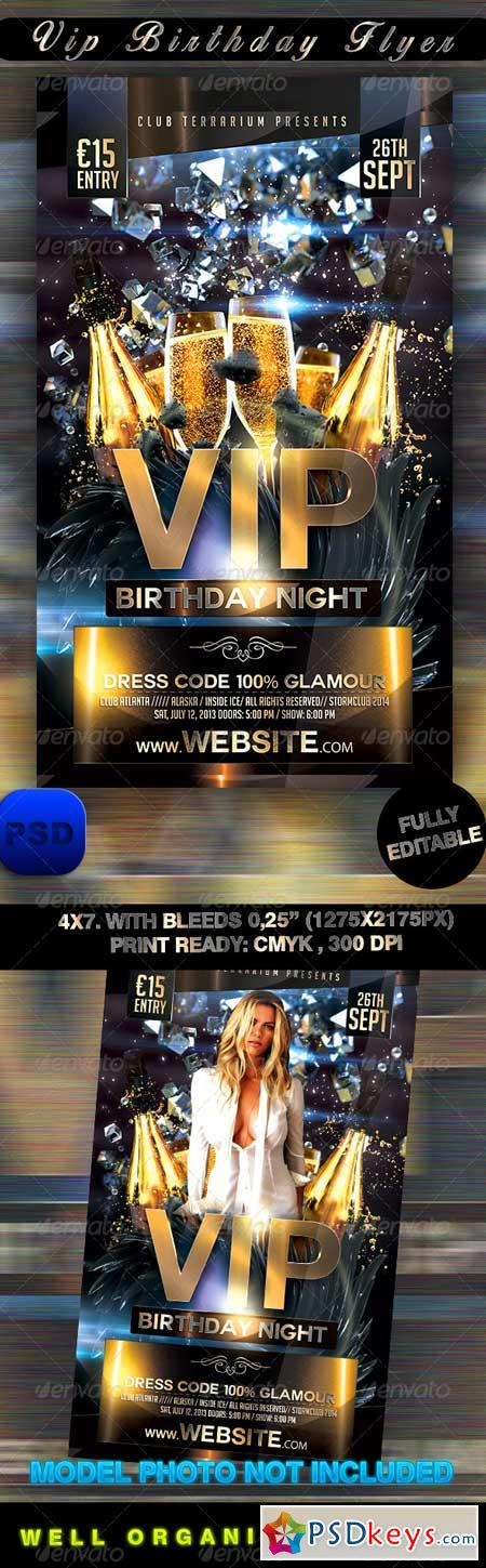 VIP Birthday Flyer 8472679