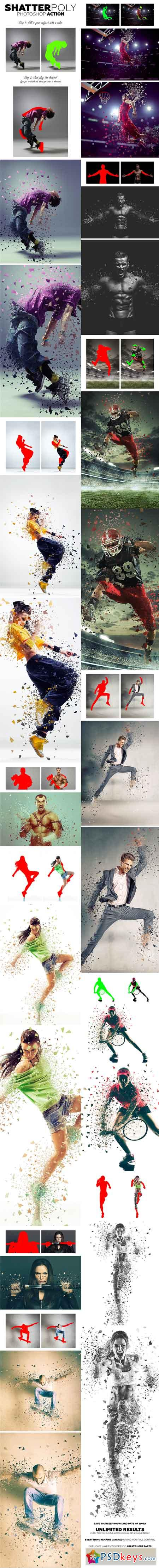 ShatterPoly Photoshop Action 19359412