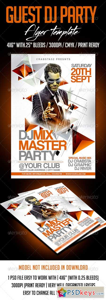 Guest Dj Party Flyer Template 8322312