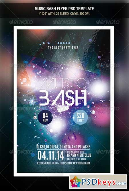 Music Bash Flyer Template 7836113