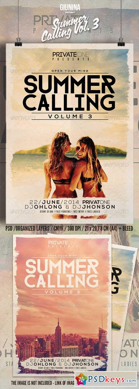 Summer Calling Vol. 3 Flyer Poster 8079297