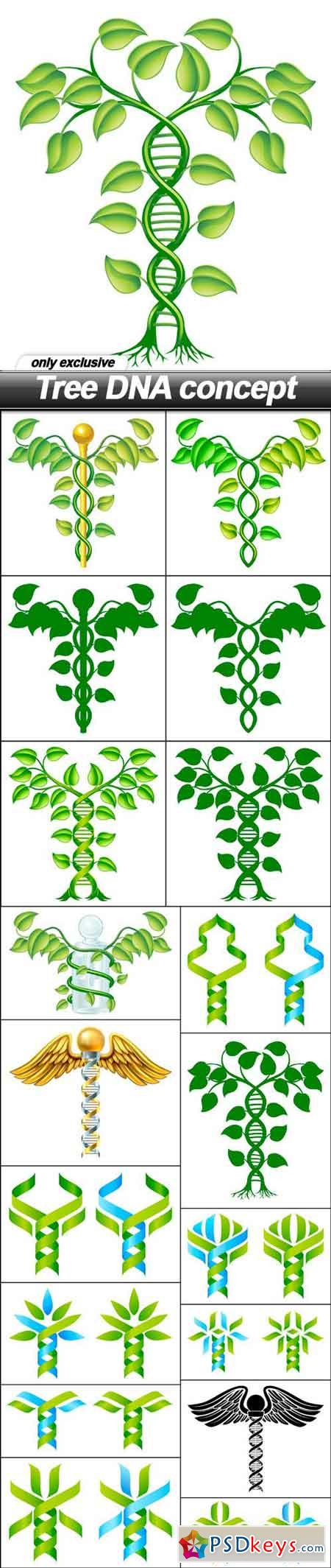 Tree DNA concept - 19 EPS