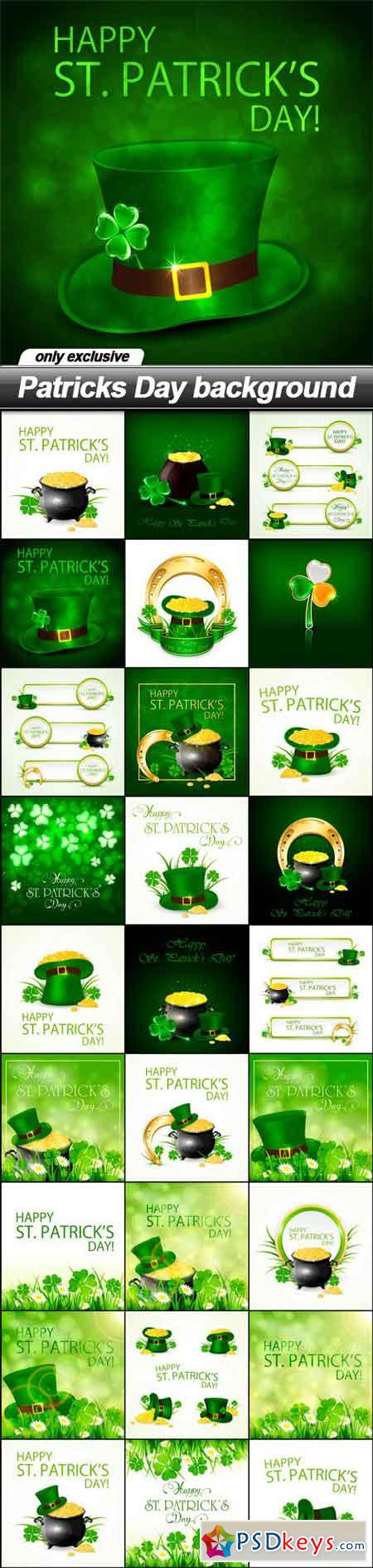 Patricks Day background - 27 EPS