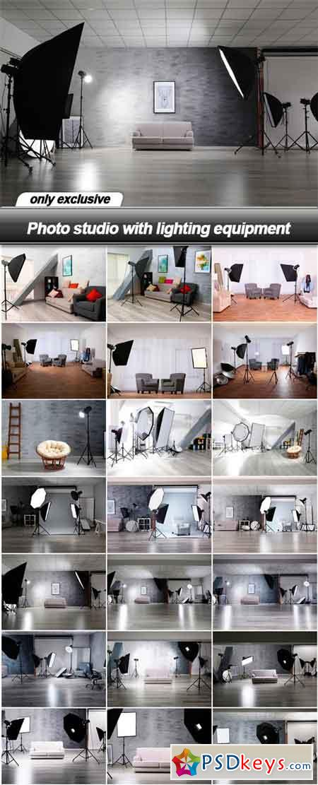 Photo studio with lighting equipment - 21 UHQ JPEG
