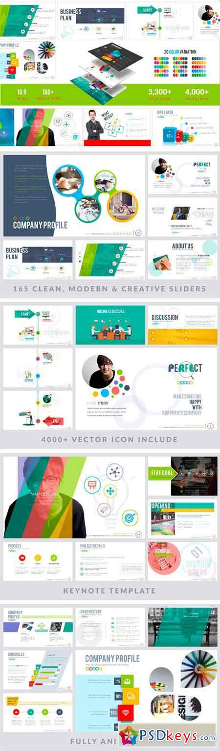 Perfect Keynote Template   Free Download Photoshop Vector