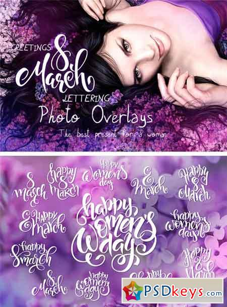 Women's Day Lettering Overlays 1236084