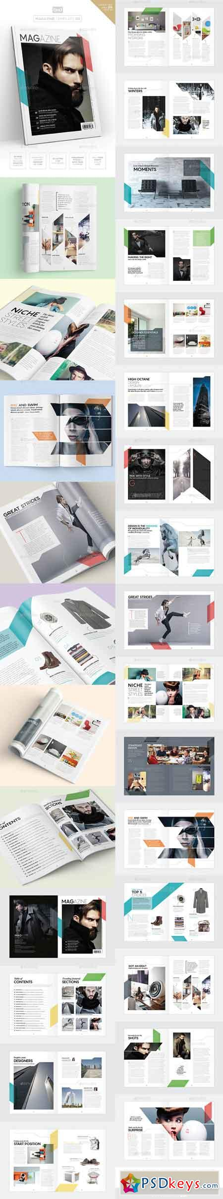 Magazine Template - InDesign 40 Page Layout V9 19303645