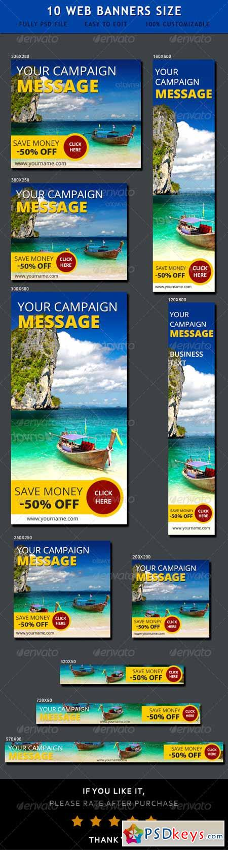 Travel Web Ad Banners 6928862