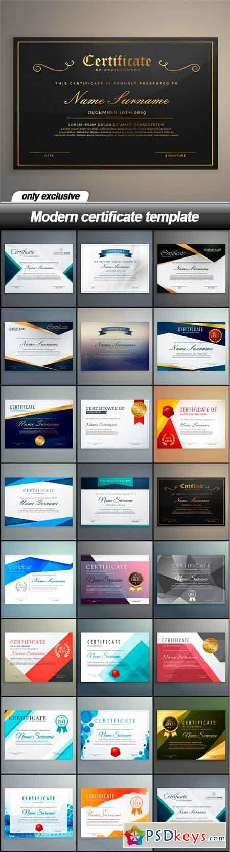 Modern certificate template 23 eps free download photoshop modern certificate template 23 eps yadclub Gallery