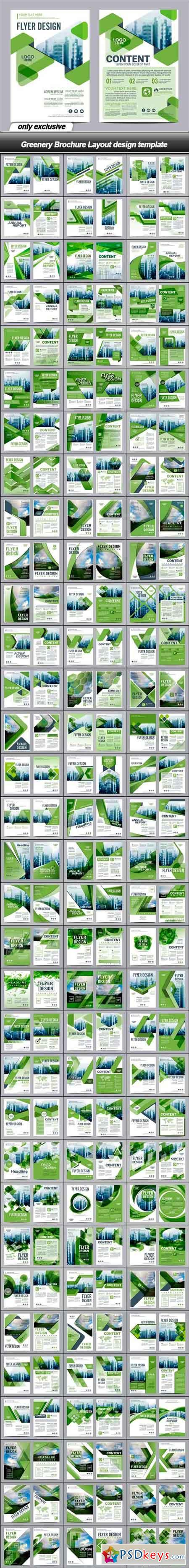Greenery Brochure Layout design template - 100 EPS