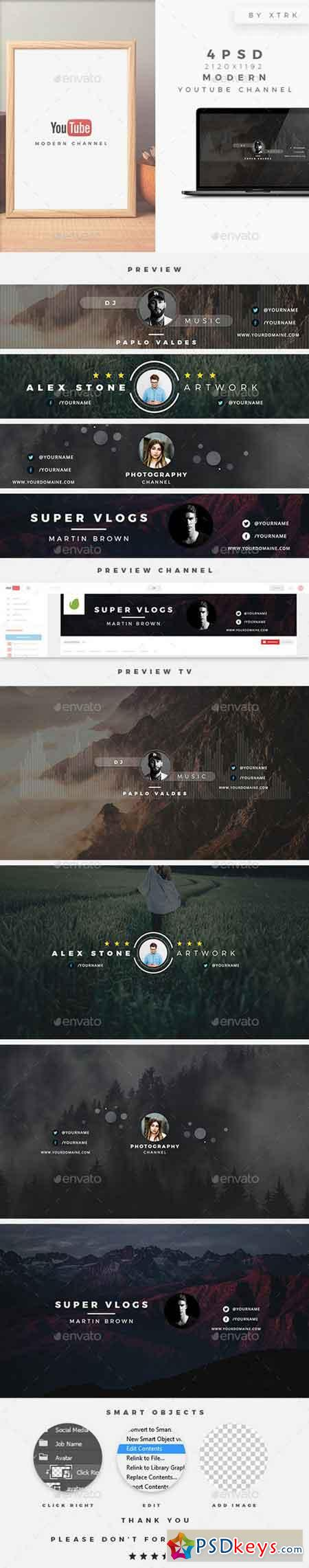 Modern Youtube Channel 19375038 » Free Download Photoshop