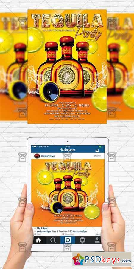 Tequila Party - Flyer Template+Instagram Size Flyer