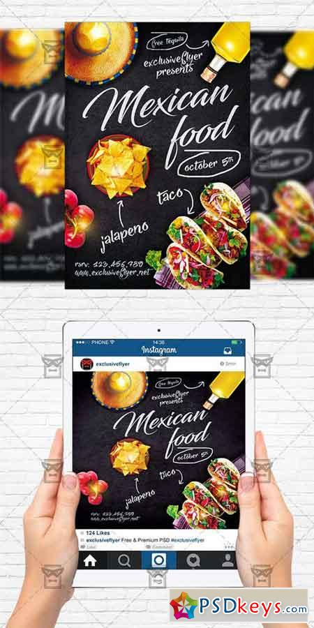 Mexican Food - Flyer Template+Instagram Size Flyer