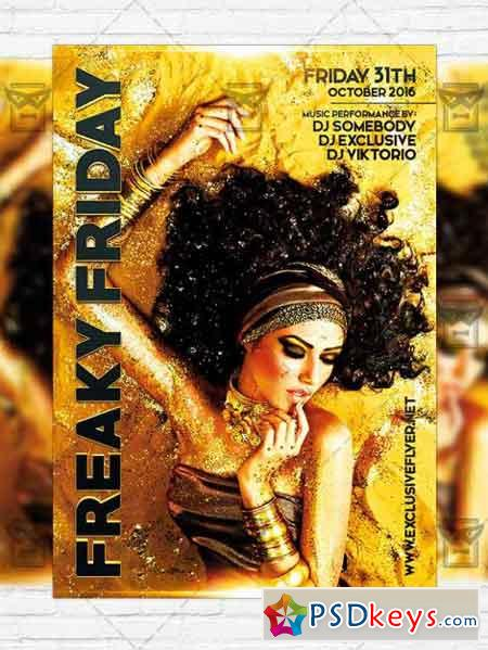 Freaky Friday - Premium PSD Flyer Template+Instagram Size Flyer ...