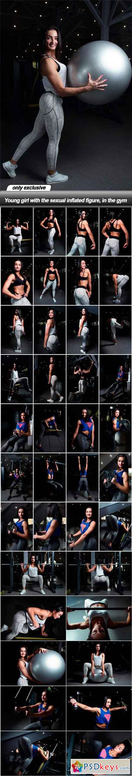 Young girl with the sexual inflated figure, in the gym - 39 UHQ JPEG