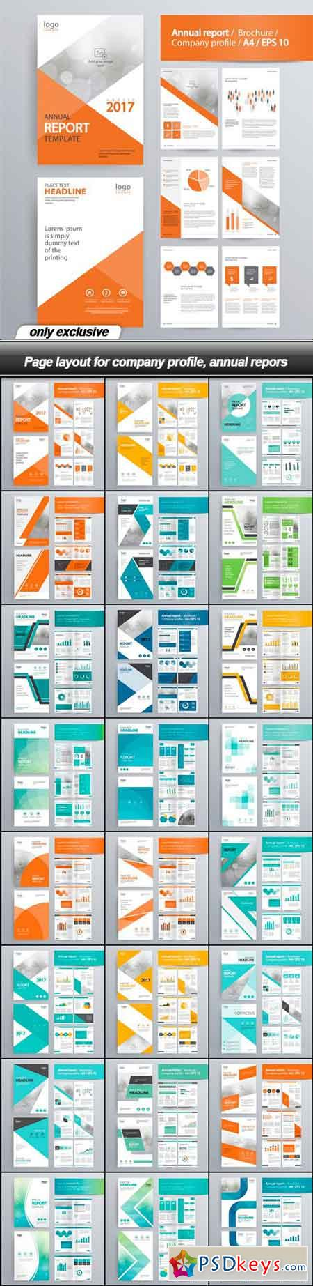 Page layout for company profile, annual reports - 24 EPS