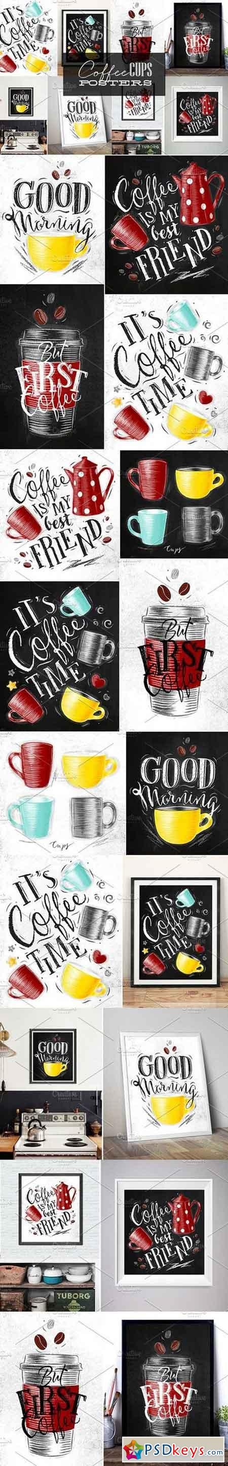 Coffee Cups Posters 1198772